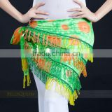SWEGAL Belly dance hip scarf trangle dancing skirt wrap dance costume belt SGBDJ13032