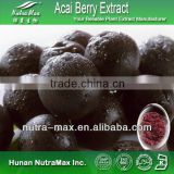 2014 Hot Sale - Acai berry extract, Acai Powder , Acai fruit extract 4:1,10:1,20:1 TLC - Manufactured by NutraMax