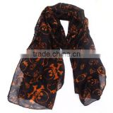 Fashion Coffe Women's Winter Changeable Microfiber Magic Scarf Long Warm Stretchy Wrap Shawl Ladies Scarves For Girls