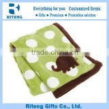 2015 Soft Security Baby Blanket With Embroider-Elephant