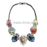 Europe of big shop sign necklace necklace shourouk wind Fashion rainbow flower exaggerated high-end jewelry