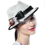 white and black sinamay church hats for lady summer wedding