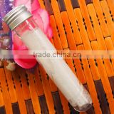 Food Grade Clear PET Test Tube Empty Cosmetic Plastic Tube