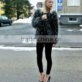 European fashion natural mink fur coat custom made fur coat for women