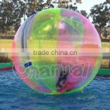 2016 hot sales and high quality colorful water walking ball/giant water ball/walk in the ball