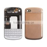 Original Genuine Complete Housing And QWERTY Keypad Assembly For BlackBerry Q10 - Gold
