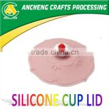 3D cake shape straw cup lid, silicone coffee cup lids,silicone cup lids,silicone cup cover