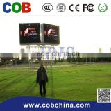 Factory good price P10 grid mesh indoor rental fullcolor led curtain display screen stage background video wall screen