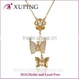 Factory wholesale price women fashion gold butterfly necklace designs                                                                         Quality Choice