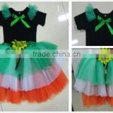 boutique children clotheing sets top with pettiskirt in set with bowknot for child