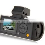 Hot ! Car DVR Mini X3000 AV with FHD 1080P + G-Sensor + GPS Logger+Rear View Camera+H.264+ Remote Control