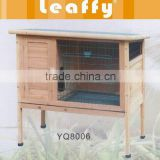 LEAFFY-Wooden with Asphalt Roof Rabbit Hutch RH8006