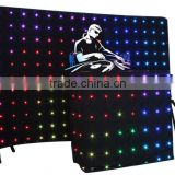 Full color foldable led curtains for stage backdrops fire retardant blackout curtain fabric