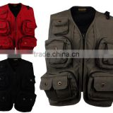 4 Colors Men's Casual Vest with Multi-Pocket for Outdoor Photography Sleeveless Jacket Outerwear Director Reporter Vests