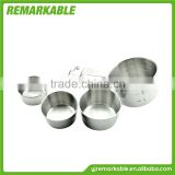 ZFC-0001 2015 New Product Stainless Steel Stackable Measuring Cups Set/Stainless Steel Stackable Measuring Cups