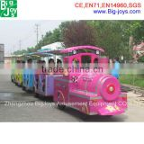 18 seats electric train for amusement park, electric trackless amusement train ride