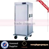 commercial kitchen equipment Stainless Steel single Door mobile Food Warmer Cart with wheels(1 door)