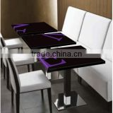 Acrylic Solid Surface Table top ,Polyester Resin Table Top,soid surface Restaurant dining tables,made stone coffe table