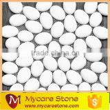 Sandy beach flat pebble mesh tile