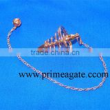 Copper Coil Metal Pendulums | Metal Pendulum For Sale | pendulum crystals for divination