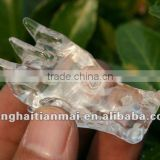 The small LATEST Natural Clear Quartz Crystal Carving Dragon Skull For Decoration, Collection, Gifts