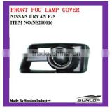 hot-sale auto spare parts front fog lamp cover NS2000016 for NS Urvan E25 KA20DE/ZD 30DD