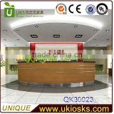 2014 hot sale reception counter, front office desk design, hotel reception counter design