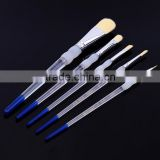 Art Supplies Bulk Clear Handle Transparent Acrylic Brush, Goat Hair Artist Oil Painting Brush Art, 5 pcs/Set Watercolor Brushes