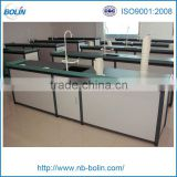 School chemistry laboratory equipment