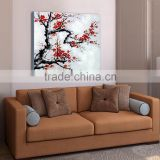 Modern Canvas Flower White Black Red Painting