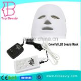 best PDT led blue light therapy facial acne treatment products with 7 color