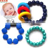 Food grade silicone baby chewable bracelet/bracelet gold/baby toys