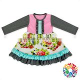 100 cotton fall long sleeve baby girl dresses wholesale kids children frocks designs
