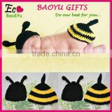 Fashion Baby Photography Bee Suit Clothing Newborn Baby Hat+Body Cover Knit Crochet Bee Costume