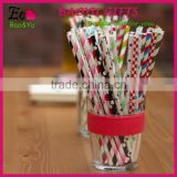 Colorful Long Paper Packing Straws For Birthday Wedding Valentine's Decorative Party Supplies Creative Drinking Straws In Bulk