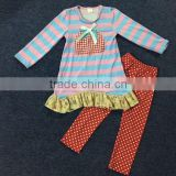 remake Kids clothing wholesale pumpkin design with stripe ruffle pants import clothing from china boutique outfits