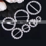 Durable Shinny Diamonds Rhinestones Buckles with Foldover Elastic for Shoes Hair Ties Decoration - Stone Shoe Buckle