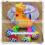 Cute giraffe bell & rattle insert baby educational plush toys baby bed hanging toys