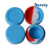 Food Grade Silicone Ball Wax DAB Container Reusable Cylindrical Silicone Jars for Concentrates Legal Oils