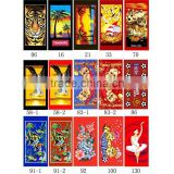 wholesale microfiber sexy nude girl and tiger animal model reactive printed beach towel china supplier 70*140 cm