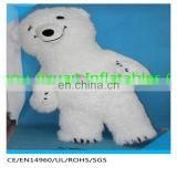 Hot Sale!! Plush Inflatable Polar Bear Mascot Costume Customized 3meter Height Bear Mascot Costume For Wedding Party Use