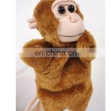 OEM stuffed plush fur plush animal monkey puppet toy
