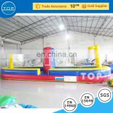 TOP school bus bounce house interactive bungee run inflatable jumping castle with En14960/EN15649