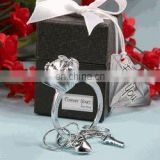 """Forever Yours"" Diamond Ring Design Key Chain Favors"