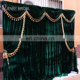 BCK144B christmas green velvet fabric photo studio backdrops for photography studio scenic