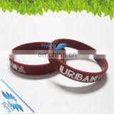 Rubber Bracelets Silicone Wristbands with color filled, Perfect for Fitness, Basketball, Crossfit