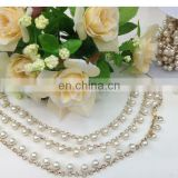 hot sell rhinestone metal chain trim on clothing bags garment accessories