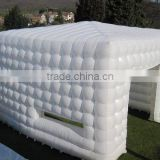 High quality pvc inflatable building air tent giant inflatable cube double tent for wedding