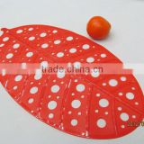 New style leaf shape bright color door bath mats YJ-8502
