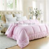 Hotel cheapest polycotton microfiber quilt set white , pink , colorful home , hotel quilt cover set comforter set